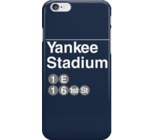 Yankee Stadium Subway Sign w iPhone Case/Skin