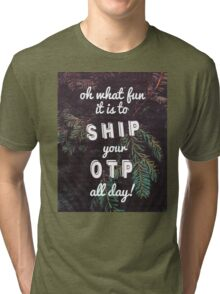 Oh What Fun it is To Ship Tri-blend T-Shirt