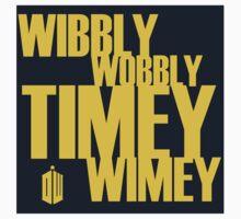 Wibbly Wobbly Timey Wimey One Piece - Short Sleeve