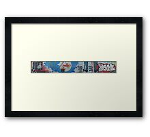 Behind The Wall - Kreutzberg section of Berlin, Germany Framed Print