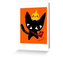 Yeux Du Chat Noir Greeting Card