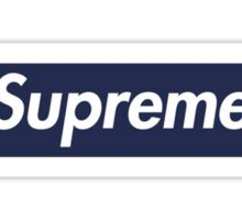 Supreme Navy Box Logo Sticker
