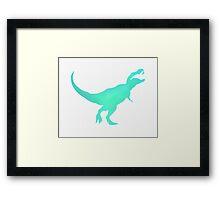 Watercolor Tyrannosaurus Rex Framed Print