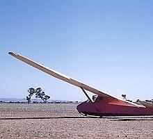 Glider, Grunau Baby 2, Gawler, South Australia. 1960. by johnrf