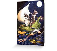 The Owl & the Quoll Greeting Card