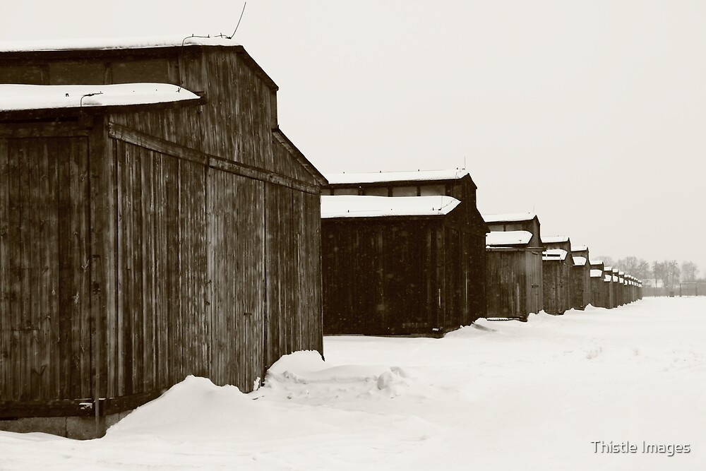 Mens Quarters at Auschwitz, Birkenau. by Linda  Morrison