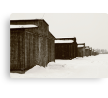 Mens Quarters at Auschwitz, Birkenau. Canvas Print