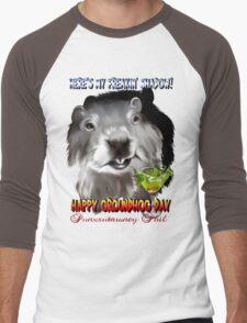 Punxsutawney Phil's Shadow Men's Baseball ¾ T-Shirt