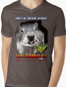 Punxsutawney Phil's Shadow Mens V-Neck T-Shirt