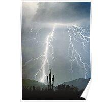 Lightning Rain Coming Down Poster