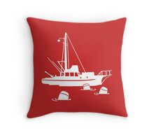 Jaws - Orca with Barrels Throw Pillow