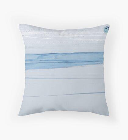 Blue Hut Throw Pillow