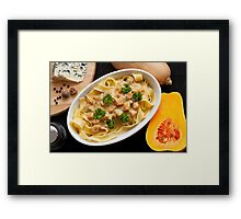 Pappardelle with Butternut Squash and Saint Agur 2 Framed Print