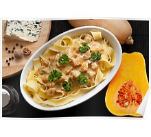 Pappardelle with Butternut Squash and Saint Agur 2 Poster