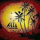 Batik Sunset in St. Kitts by Memaa