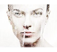 Artistic portrait of woman face overlayed on nature scenery art photo print Photographic Print