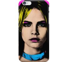 The Perfect Face - Cara Delevingne iPhone Case/Skin