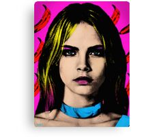 The Perfect Face - Cara Delevingne Canvas Print