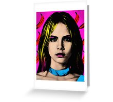 The Perfect Face - Cara Delevingne Greeting Card