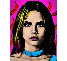 The Perfect Face - Cara Delevingne Photographic Print