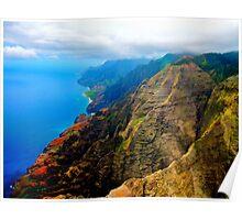 Na Pali Coast Kauai HDR Poster