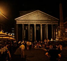 Night View of Pantheon, Rome by seanh