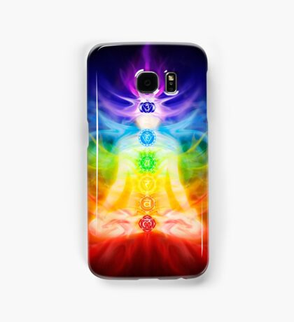 Chakras and energy flow on human body art photo print Samsung Galaxy Case/Skin
