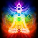 Chakras and energy flow on human body art photo print by ArtNudePhotos