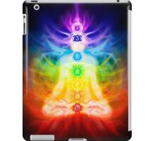 Chakras and energy flow on human body art photo print iPad Case/Skin