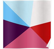 pink purple blue red Poster