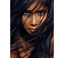 Young exotic woman with long black hair art photo print Photographic Print