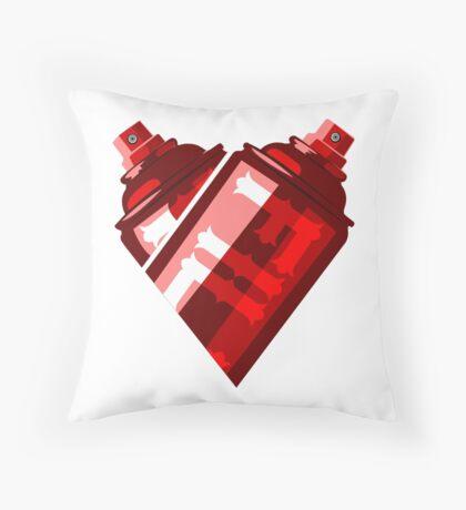 I Heart Graffiti White Throw Pillow
