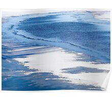 Icy Blue Water Poster