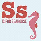 S is for Seahorse by Amy Huxtable