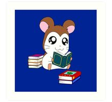 Maxwell with Books Art Print
