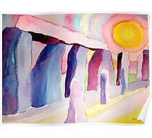 Sun at Stonehenge Poster