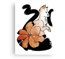 6 Tails Bowing Canvas Print