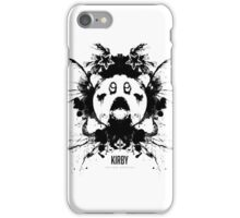 Kirby Ink Blot Geek Psychological Disorders iPhone Case/Skin