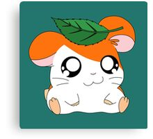 Hamtaro with Leaf Canvas Print