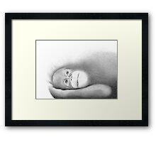 Infant female orang-utan Framed Print