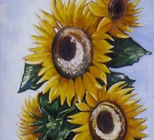 Bright Sunflowers in Urn by dorcas13