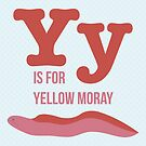 Y is for Yellow Moray by Amy Huxtable