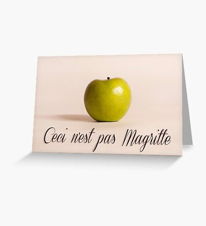 Ceci n'est pas Magritte - pomme Greeting Card
