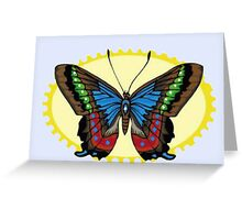 Bright Colorful Butterfly Greeting Card
