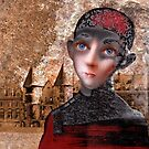 Portrait of a boy with a castle in the background by ipalbus-art