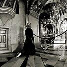 Woman Praying at Chapel - GD by GailD