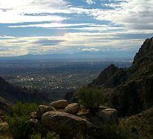 Looking out over Tucson by J Eric Fergason