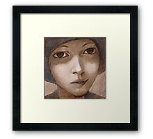 Girl with hat. Framed Print