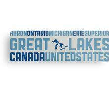 "Great Lakes ""HOMES"" v2 Metal Print"