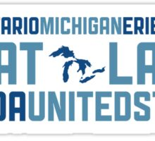 "Great Lakes ""HOMES"" v2 Sticker"